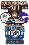 Super Bowl VIII Oversized Commemorative Pin