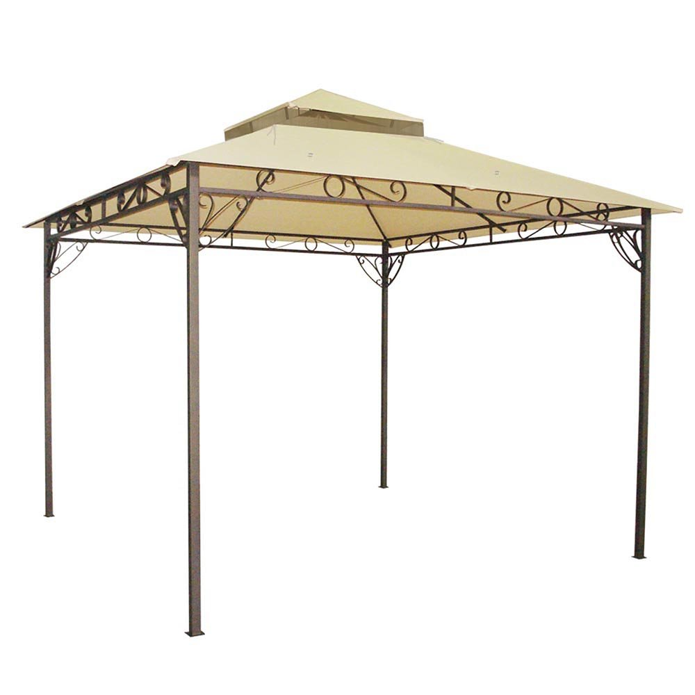 Yescom 10.6x10.6 Outdoor Waterproof Gazebo Canopy Top Replacement 2-Tier Cover for Madaga Frame