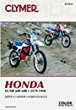 M339-8 1979-1990 XL500R XR500 XL600 XR600 Clymer Honda Motorcycle Repair Manual