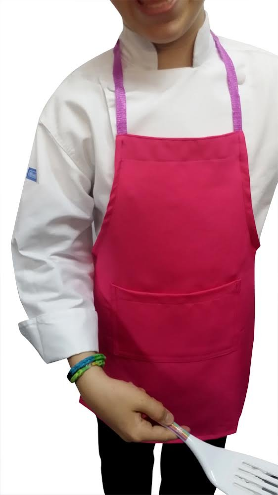 Lot of 25 Hot Pink Chefskin Lightweight Apron Kids Children 2-7 Yr 15x21 Fabric by CHEFSKIN