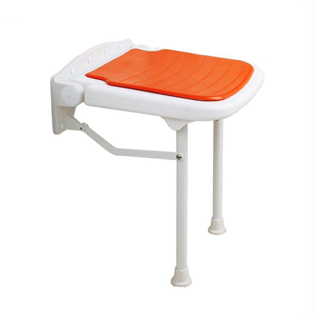 壁掛け式折りたたみ式シャワーチェアと椅子/身長の異なる人に適した障害妊婦と高齢者のための大人用セーフティノンスリップオレンジ (サイズ さいず : 45cm) B07F3WYPK3   45cm