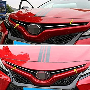 ZiWen New Sport Style Stainless Steel Chrome Front Grill Trim for Toyota Camry 2018 SE XSE