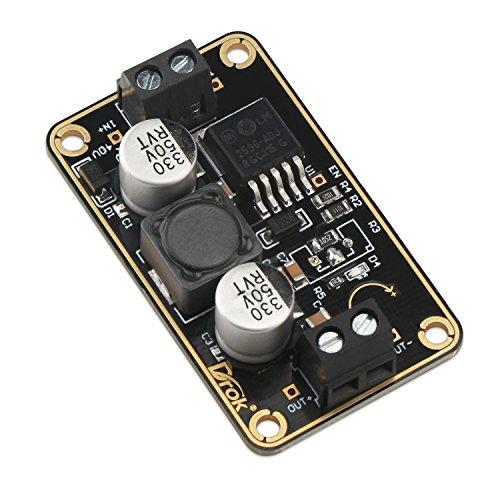 24V to 12V Power Converter, DROK Immersion Gold LM2596 Buck Converter DC 3V-40V 24 V to DC 12 V Step-Down Voltage Regulator Board 3A Volt Reducer Transformer Module DIY