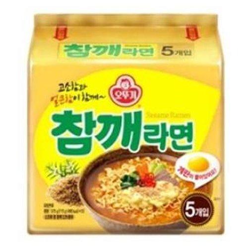 Ottogi Sesame Flavor Noodle 5ea, Chamke ramen 5ea,Korean Instant Noodle Soup Korea Ramen Ramyun (Best Korean Instant Ramen)