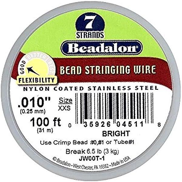 30 FT Spool Various Sizes .010 thru .026 BRIGHT Beadalon Bead Stringing Wire