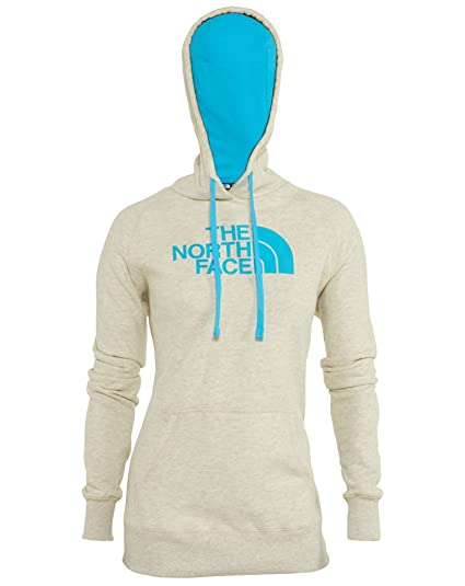 4f4158bbe199a9 THE NORTH FACE Women s Half Dome Hoodie-New Fit TNF Oatmeal  Heather Turquoise Blue