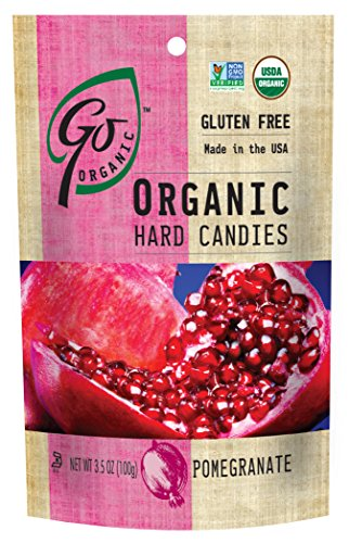 GoOrganic Organic Hard Candies, Pomegranate, 3.5 Ounce Bag (Pack of 6)