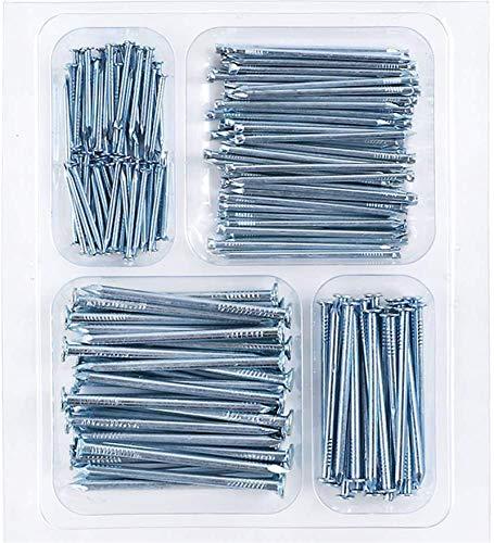 Coceca Hardware Nail Assortment Kit 200pcs, Galvanized Nails, 4 Size Assortment