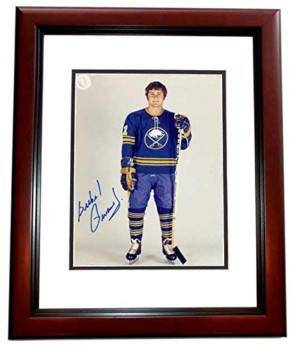 Gil Perreault Signed - Autographed Buffalo Sabres 8x10 inch Photo MAHOGANY CUSTOM FRAME - Guaranteed to pass or JSA - Hall of Famer - PSA/DNA Certified (Signed Buffalo Sabres Nhl Photo)