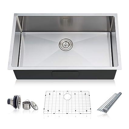 30 inch kitchen sink top mount taozun kitchen sink 30inch 16 gauge undermount single bowl stainless steel kit