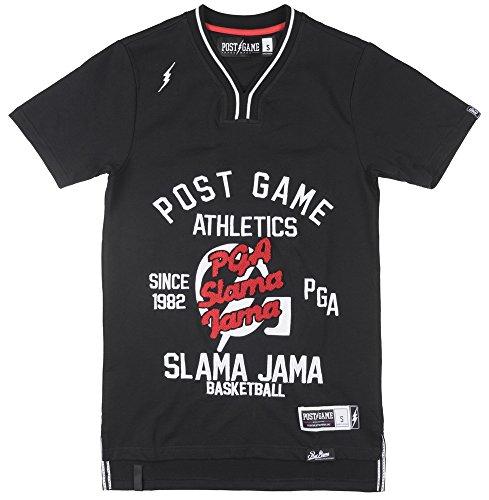 Post Game Slama Jama Mens Basketball Jersey SS Shirt In Black