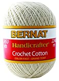 Bernat Handicrafter Crochet Cotton Yarn, 14 Ounce, White, Single Ball