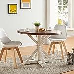 SEI Furniture Barrisdale Modern Farmhouse, Dining Table, Antique White, Whiskey Maple