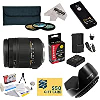 Sigma Super Zoom 18-250mm f/3.5-6.3 DC Macro OS HSM (Optical Stabilizer) 883-306 Lens With 3 Year Extended Lens Warranty For the Nikon D3100, D3200, D3300, D5100, D5200, D5300 - Includes 3 Piece 62mm Pro Filter Kit (UV, CPL, FLD Lens) + Replacement Battery Pack for the Nikon EN-EL14 1800MAH + 1 Hour AC/DC Battery Charger + Wireless Shutter Release Remote Control + Deluxe Lens Cleaning Kit + LCD Screen Protectors + Mini Tripod + 47stphoto Microfiber Cloth Photo Print !