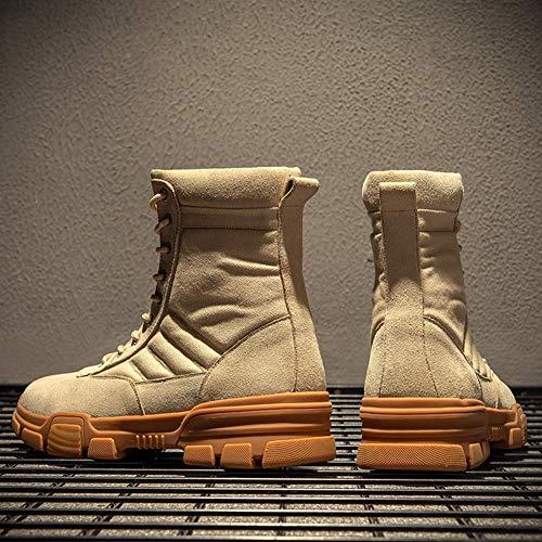 da da da Stivali all'Usura Moda di di di EU42 Resistente Piatto 5 Antiscivolo Dimensioni Uomo UK8 US10 Stivali 5 QIDI Gomma Martin gvFSq1