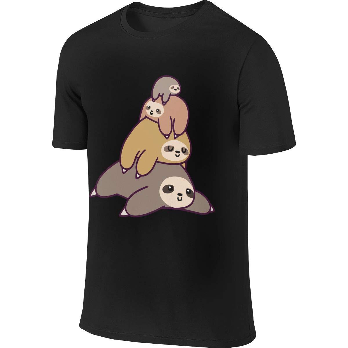 Wangx-4 Sloth Stack Graphic T-shirt, Short Sleeve Tee