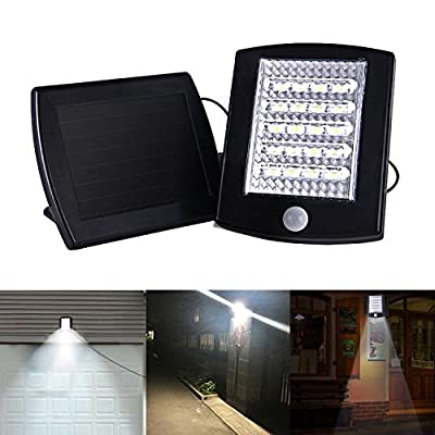 Voona Solar Motion Sensor Security Light,Ultra Bright SMD LED Solar Motion Outdoor Garden Wall Yard Deck Garage Waterproof Lamp