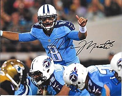 Marcus Mariota Tennessee Titans Autographed Signed 8 x 10 Photo - COA -