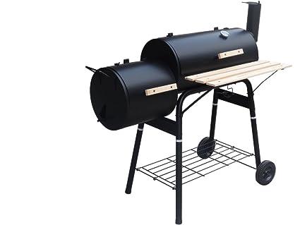Barbacoa con parrilla de barbacoa de madera barbacoa de carbón de barbacoa quemador de fumador barbacoa