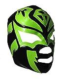 SOMBRA Adult Lucha Libre Wrestling Mask (pro-fit) Costume Wear - Black/Green