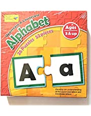 English alphabets puzzle - capital and small letters - 26 puzzles , 52 pieces