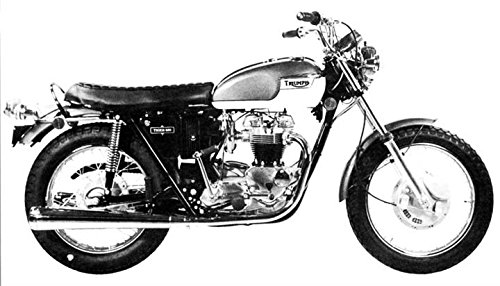 Amazoncom 1972 Triumph Tr6r Tiger 650 Motorcycle Factory Photo