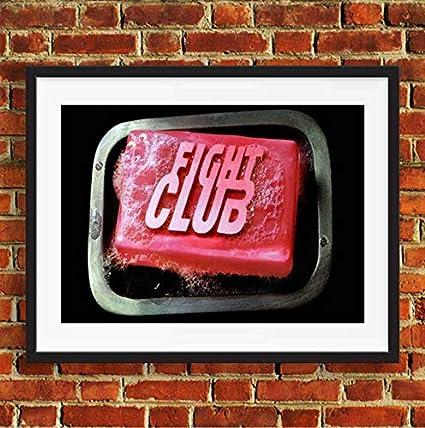 Fight Club Película de Jabón Retro Estilo Vintage Poster ...