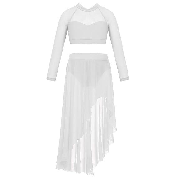 CHICTRY - Vestido de Baile para niña, de látex, Tango, Salsa ...