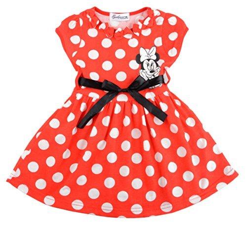 Eyekepper Little Girls' Christmas Polka Dot Bow Tulle Splice Princess Tutu Dress D0062-66-Red-120 -H5