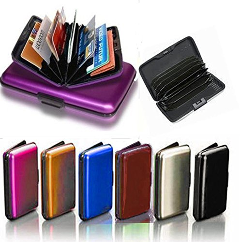 Aluminum Aluma Hard Case Credit Cards Wallet (Assorted 6 Pack)
