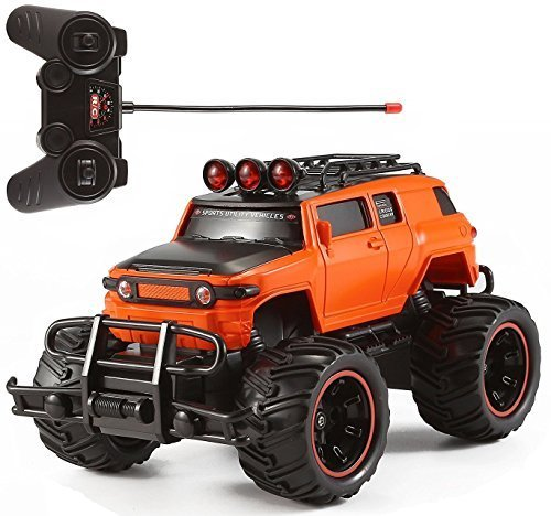 - R/C Monster Truck Toy Remote Control RTR Electric Vehicle Off-Road Race Car (1:20 Scale Orange)