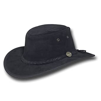 157e9cd55ac Barmah Hats Foldaway Suede Leather Hat - Item 1066 at Amazon Men s Clothing  store  Cowboy Hats