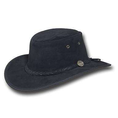 At Barmah Leather Hat Item Men's Hats Suede Foldaway 1066 Amazon g6b7yYfv