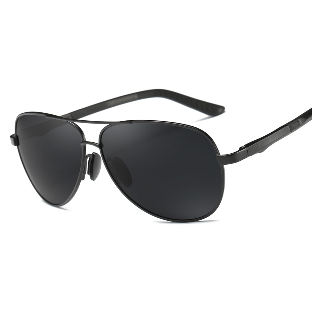 ELITERA Men/Women Polarized Sunglasses Aluminum Magnesium Alloy E210 (BLACK&GRAY, 65)