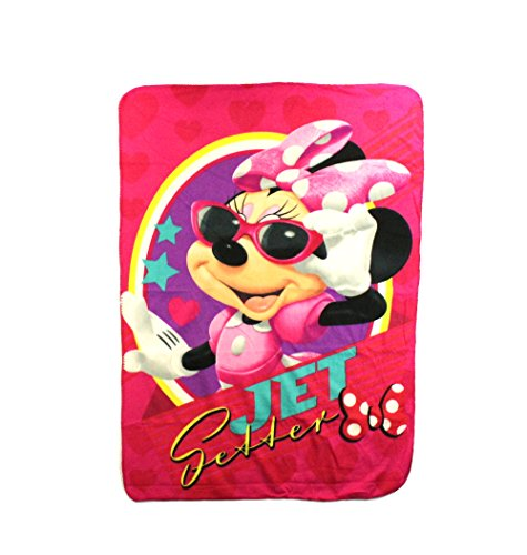 The Northwest Company Minnie Mouse Jet Setter Fleece Character Blanket 45 x 60-inches