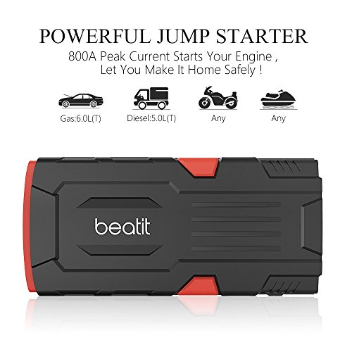 Beatit-800A-Peak-18000mAh-12V-Portable-Car-Jump-Starter-With-Smart-Jumper-Cables-Up-to-60L-Gas-or-50-Diesel-Engines-Auto-Battery-Booster-Power-Pack-Phone-Power-Bank-With-Smart-Charging-Ports