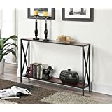Convenience Concepts Tucson Collection Console Table, Black/Cherry