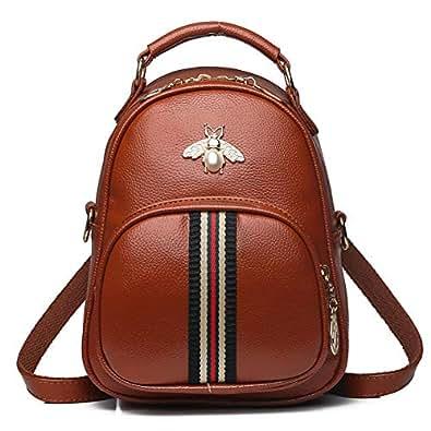 Yoome Women Designer Mini Clutch Bee Bag Shoulder Small Backpack Purse Stylish Crossbody Handbags brown Size: Medium