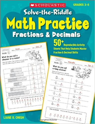 Solve-the-Riddle Math Practice: Fractions & Decimals: 50+ ...