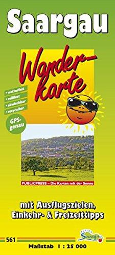 Wanderkarte Saargau: mit Ausflugszielen, Einkehr- & Freizeittipps, wetterfest, reissfest, abwischbar, GPS-genau. 1:25000