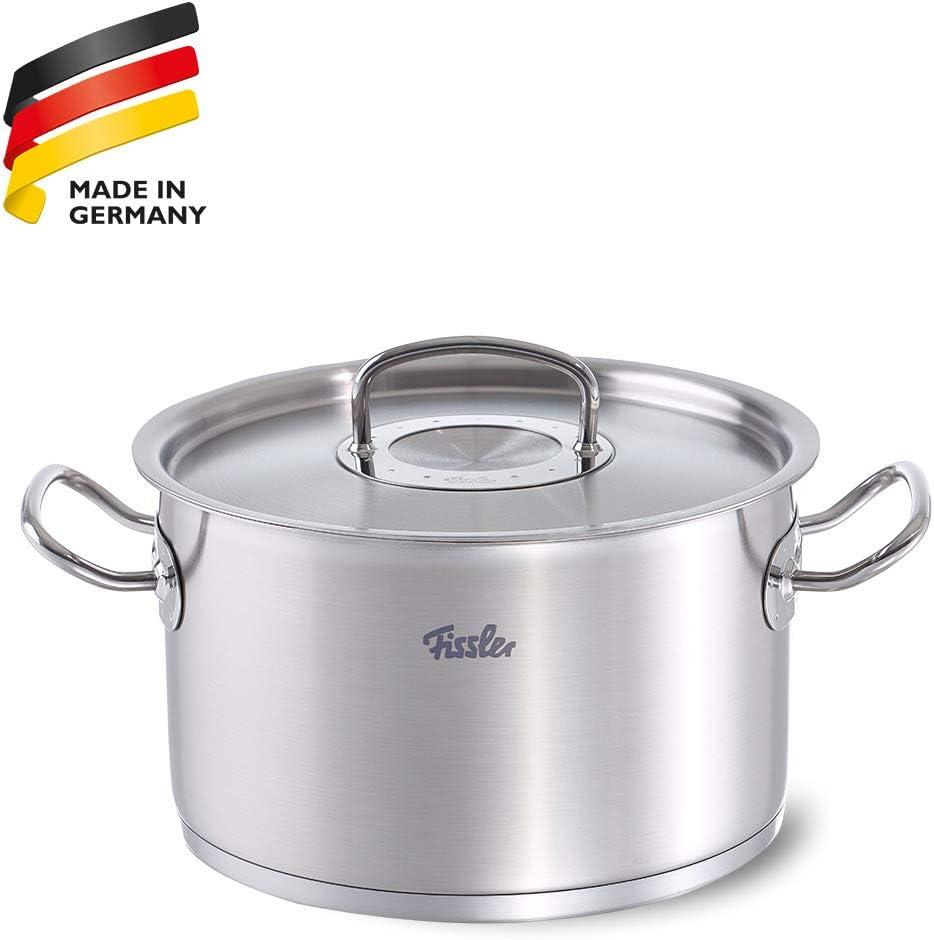 Gastronomie Qualität Edelstahl Kochtopf Schmortopf mit Deckel 3,3L Induktion