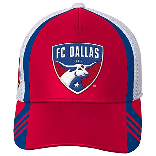 - MLS FC Dallas Boys Structured Flex Hat, Red, One Size (8)
