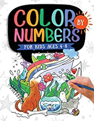 Color by Numbers For Kids Ages 4-8: Dinosaur, Sea Life, Animals, Butterfly, and Much More!
