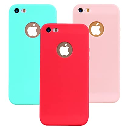 Funda iPhone 5, 3Unidades Carcasa iPhone 5s Silicona Gel ...