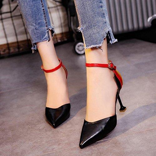 Sandals Noir Pour MML Femme Sandales Women q6Rw5O