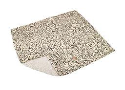 AlphaPooch Sleeper Pet Blanket, Berry Branch Black Fabric with Fleece, Large