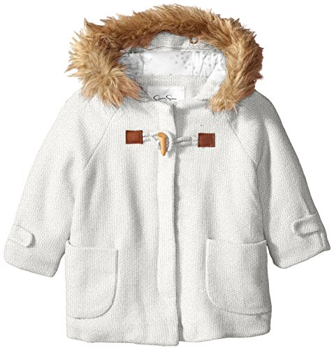 Jessica Simpson Baby Girls' Fashion Outerwear Jacket (More Styles Available), 3938-Light Grey, 18M