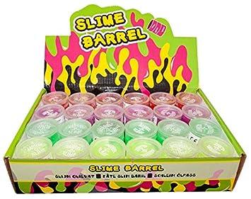 Großhandel & Sonderposten Spielzeug & Modellbau (Posten) 8 x Öl Schleim Neon in Tonne Slime im Ölfass Glibberschleim Slimey Halloween GrS