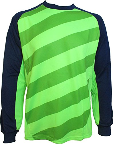 (Vizari Padova Goalkeeper Jersey, Green/Navy, Adult Medium)