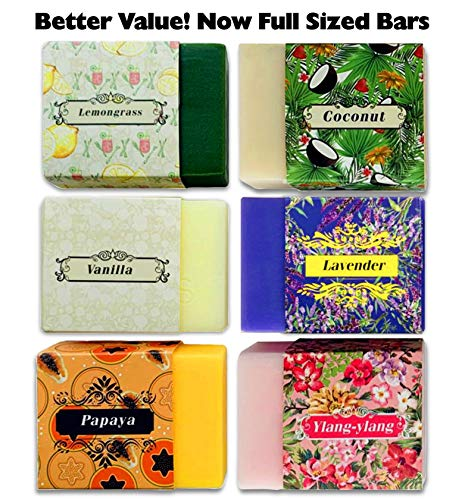 Aromatherapy Moisturizing Bar Soap - Purelis Naturals Aromatherapy Soap Bars, Artisan Crafted with Natural Essential Oils, 6-Pack Gift Set. Handmade, Antibacterial Face and Body Soap for Men and Women, Organic Soap Bars